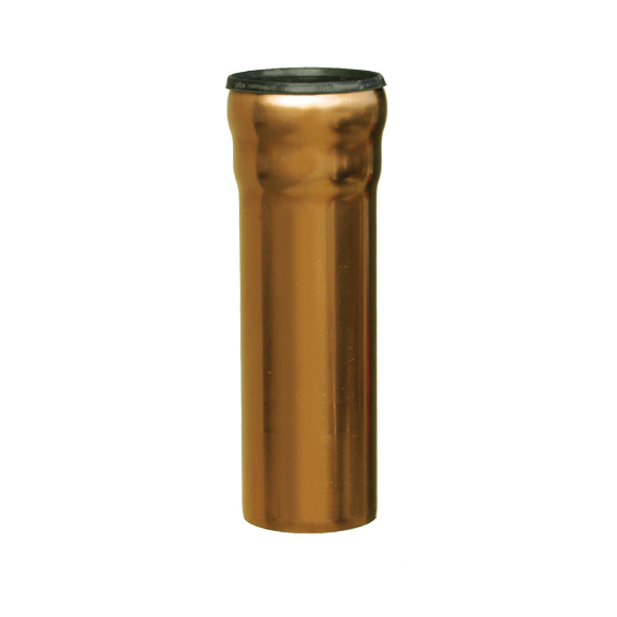 Loro copper pipe with 1 socket 1000 mm dn 100