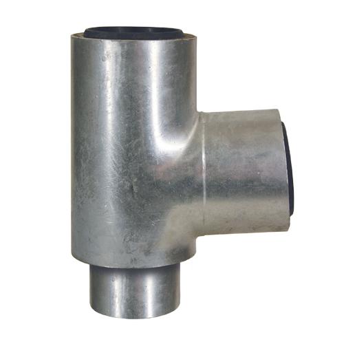 Loro-x dubbelwandig T-stuk 87 graden dn 50/50 58020X